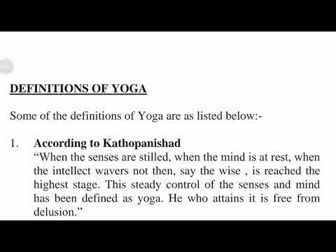 Definitions Of Yoga Youtube
