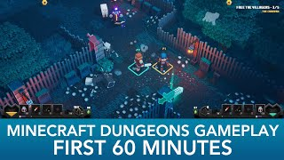 Minecraft Dungeons | First 60 Minutes Of Co-op Gameplay  2 Quests