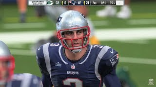 Madden NFL 19 - Green Bay Packers vs New England Patriots Gameplay (1080p60fps)