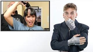 Hairdresser Reacts To Girls Shaving Their Heads
