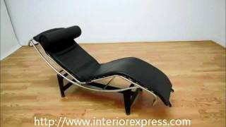 Interiorexpress Le Corbusier Chaise Lounge Chair In Black