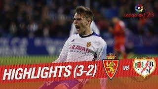 Resumen de Real Zaragoza vs Rayo Vallecano (3-2)