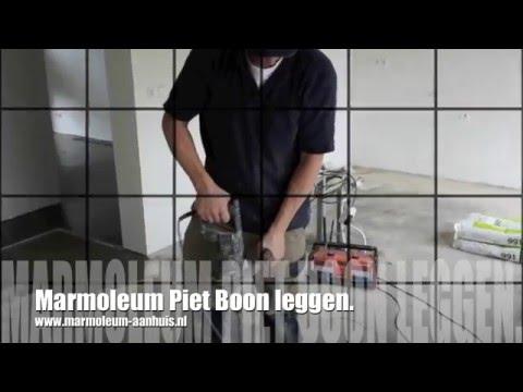Marmoleum Betonlook Prijs : Egaliseren en piet boon marmoleum leggen youtube