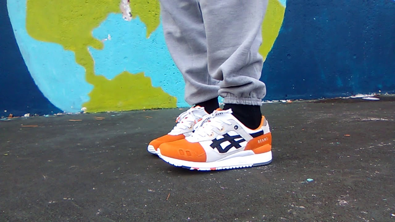 lovely luster fast delivery special selection of Afew x Beams x Asics Gel Lyte iii 'Orange Koi ' - YouTube