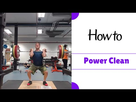 Power Clean technique: How To Do A Power Clean - Power Cleans for beginners
