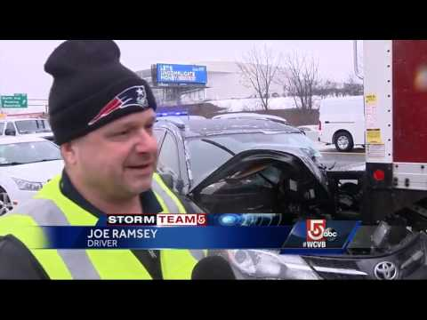 55 vehicles collide on Route 128 in Wakefield