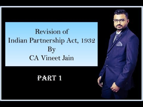 CA CPT THE INDIAN PARTNERSHIP ACT REVISION  BY CA VINEET JAIN