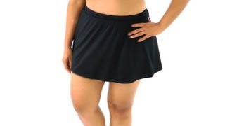 Maxine Plus Size Solid Swim Skirt | SwimOutlet.com