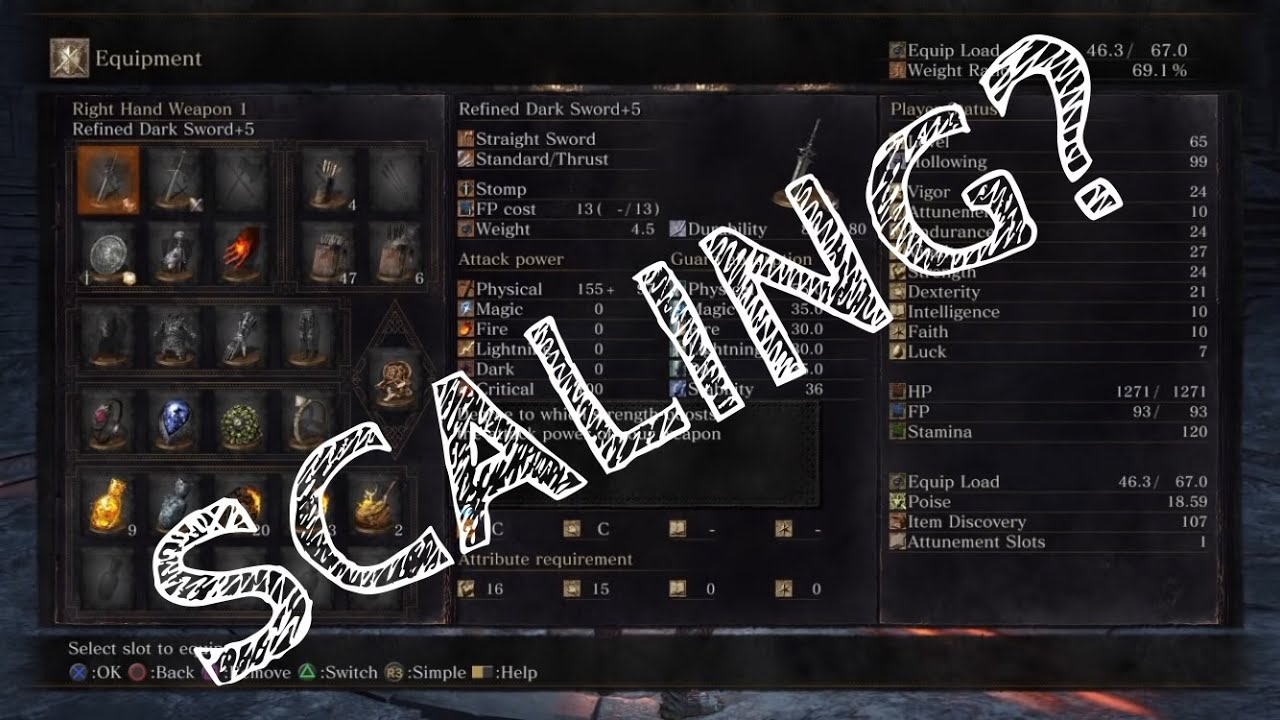 Dark Souls 3 - Weapon Scaling Explained - How to calculate weapon damage