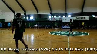 Handball. U17 boys. Sarius cup 2017. KSLI Kiev (UKR) - HK Slavoj Trebisov (SVK) - 19:18 (2nd half)