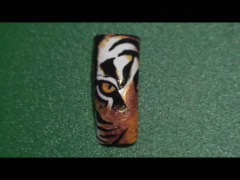 nail art designs tiger print by Tin Pham 8 - YouTube
