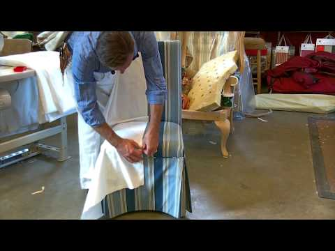 Learn how to make a Slipcover for a Parsons Chair