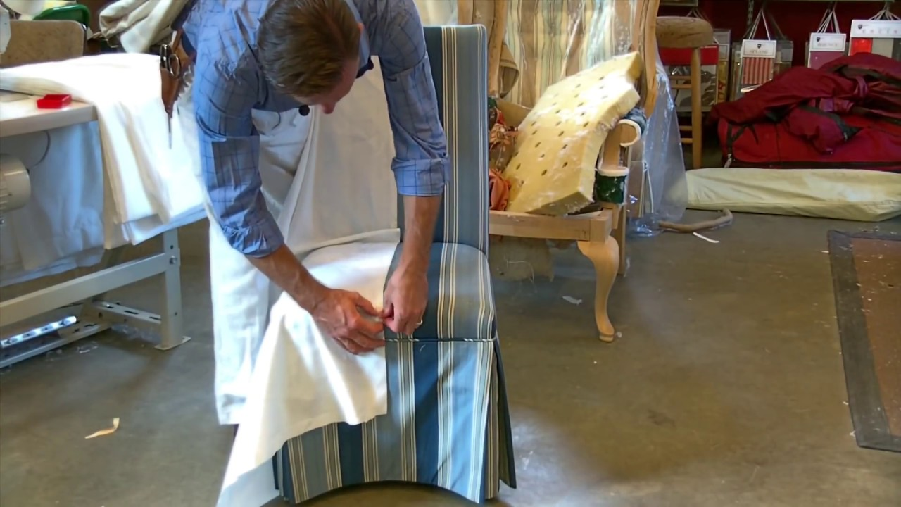 Learn How To Make A Slipcover For A Parsons Chair   YouTube