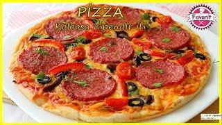 🔵Sadə pizza hazırlanması | Asan və dadlı pizza resepti | Kolbasalı və pendirli pizza necə hazırlanı