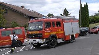 [Realeinsatz während Feuerwehrtag] ELW1, MTF, TLF 16/25, RW2 der Feuerwehr Alfter LG Witterschlick