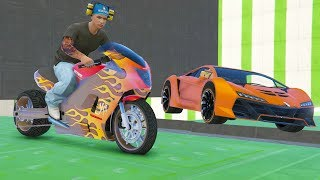 CORRE O TE ATROPELLO! MOTO LLAMA! - GTA 5 ONLINE