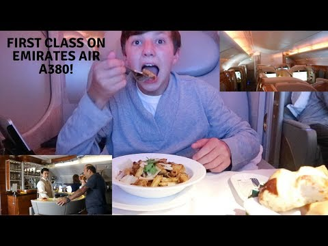 EMIRATES AIR UPGRADED ME TO FIRST CLASS ON AN AIRBUS 380!!!