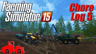 Farming Simulator 15: Chore Log 5 - Timber!