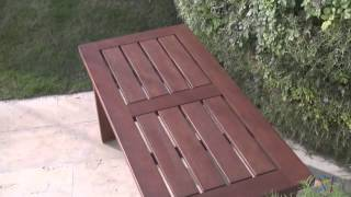 Firepit Straight Wood Bench - Natural - Product Review Video