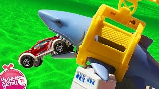 БОЛЬШОЙ КОРАБЛЬ с АКУЛОЙ и МАШИНАМИ Игровой набор MATCHBOX Mission Marine Rescue Shark Ship Play Set