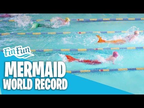 Mermaid Swimming World Record - Fin Fun 50 Yard Butterfly