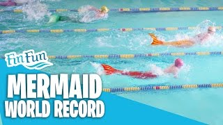 Mermaid Swimming World Record - Fin Fun 50 Yard Butterfly