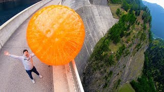 ZORB BALL MAGNUS EFFECT from 165m Dam! thumbnail