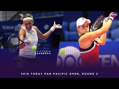 Victoria Azarenka vs. Ashleigh Barty | 2018 Toray Pan Pacific Open Round Two | WTA Highlights