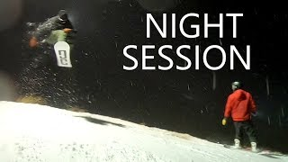 Night Snowboarding at Coronet Peak New Zealand