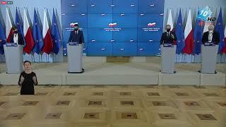 Nowe obostrzenia - konferencja prasowa premiera Mateusza Morawieckiego - Warszawa, 23.10.2020