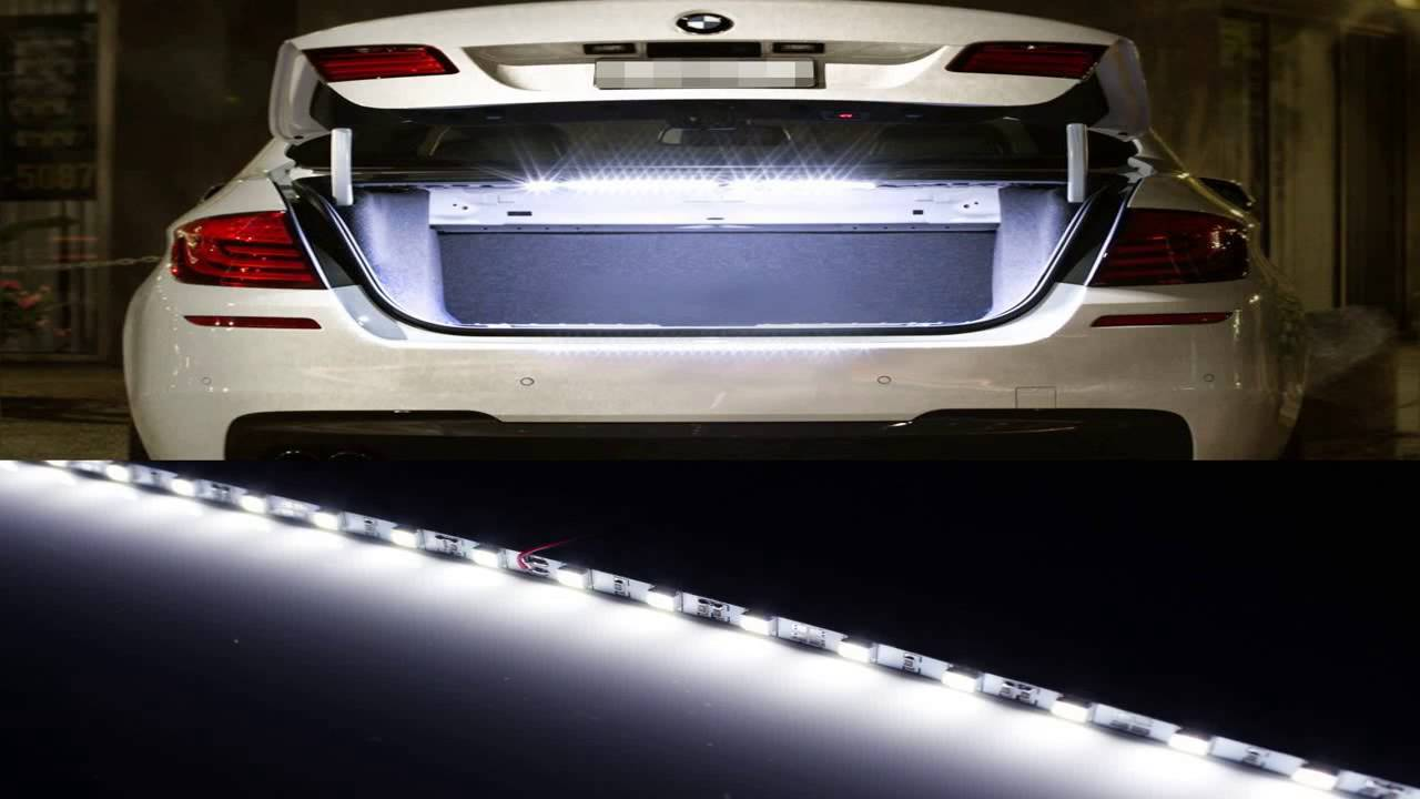 Ijdmtoy 18 smd 5050 led strip light for car trunk cargo area or ijdmtoy 18 smd 5050 led strip light for car trunk cargo area or interior il youtube mozeypictures Gallery