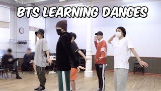 watch bts learn their dances