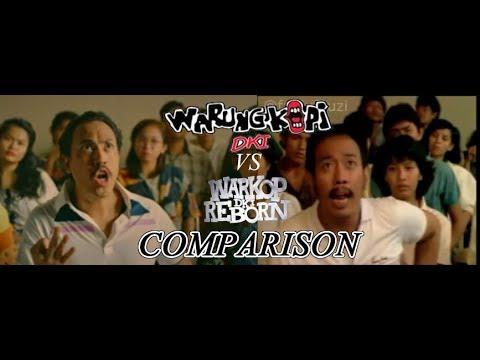 Warkop DKI Vs Warkop DKI Reborn fakultas scene comparison side by side