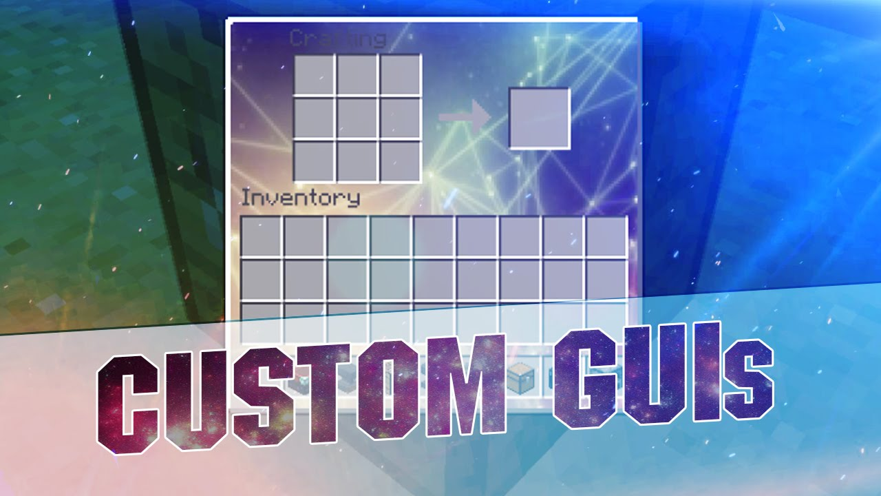 Minecraft Resource Pack - CUSTOM GUIs! Transparent and Abstract Inventory  1 8 3 / 1 8 / 1 7