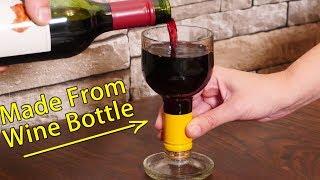 How to Make Wine Bottle Glasses