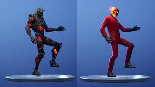 FORTNITE RUIN SKIN vs INFERNO SKIN (LEGENDARY EMOTES)