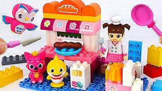 Baby Shark & Pinkfong are hungry. Let's go to the Kongsuni Bakery  and have some bread   PinkyPopTOY
