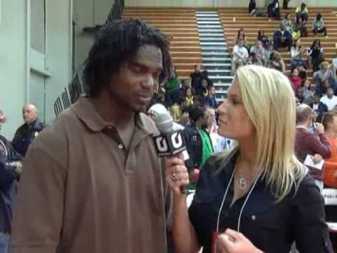 Edgerrin James and Amber Wilson of OPENSports.com