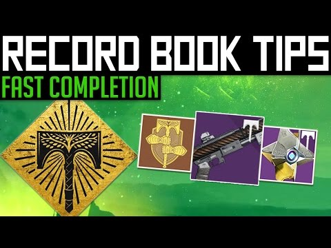 Destiny | RECORD BOOK TIPS! - Complete the Rise of Iron Record Book Faster!