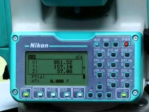 total station 11 nikon npl 352 setting and leveling electronic rh youtube com nikon d50 total station manual nikon total station manual download