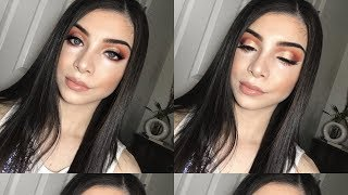 SUNSET EYESHADOW MAKEUP TUTORIAL | Thalia Reyes