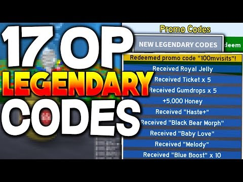(NEW) 17 LEGENDARY BEE SWARM SIMULATOR CODES *OP PERKS* Roblox