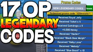 (NEW) 17 LEGENDARY BEE SWARM SIMULATOR CODES *OP PERKS* Roblox