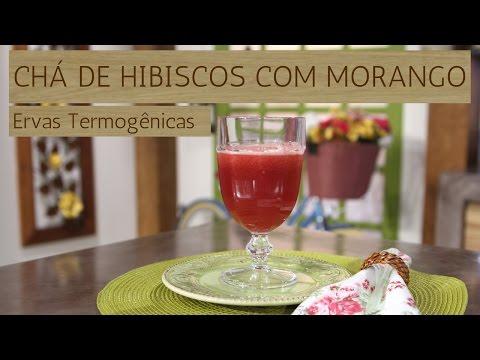 Chá Gelado de Hibiscos com Morango / Ervas Termogênicas (24/04/17)