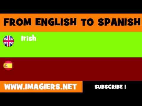 SPANISH TO ENGLISH = irlandés