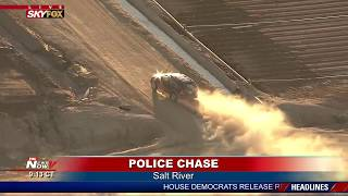 DUSTY CHASE: Bizarre Police Chase in Arizona