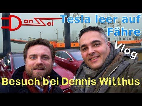 Vlog Tesla Model S Roadtrip - mit leerem Akku auf Fähre gelandet auf dem Weg zu Dennis Witthus