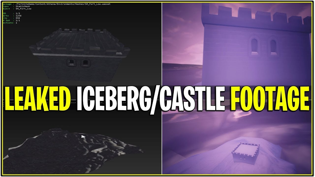 New Leaked Footage Of The Iceberg Castle Up Close Fortnite