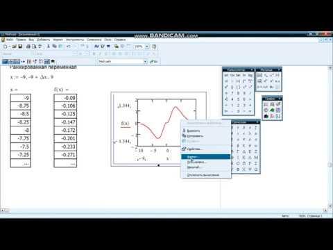 MathCAD  График функции пользователя с условием