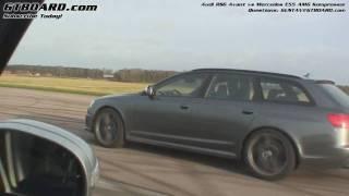 HD: Mercedes E55 AMG Kompressor vs Audi RS6 Avant stock